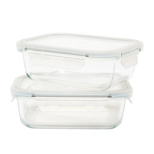 Kolorae Glass Food Storage Rectangle 29Oz - 2 Count