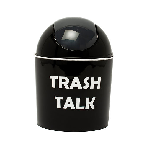 Kolorae Mini Waste Can Trash Talk
