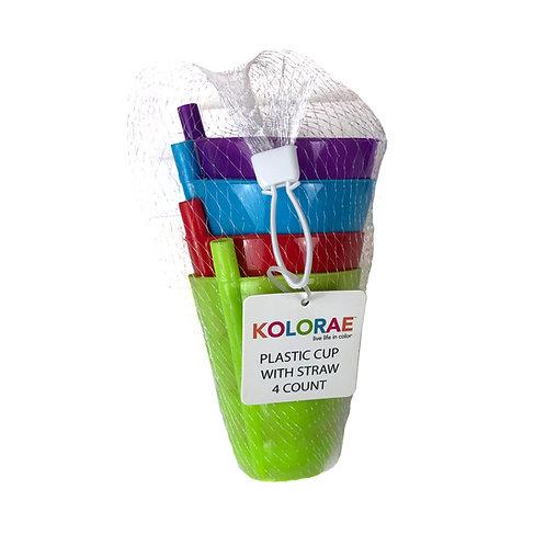 Kolorae Plastic Cup W/Straw