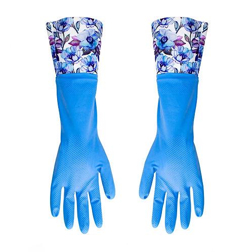 Kolorae Cleaning Gloves Blue Floral