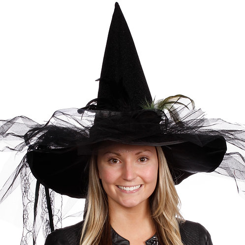 Masqarae Bella Witch Hat - BK