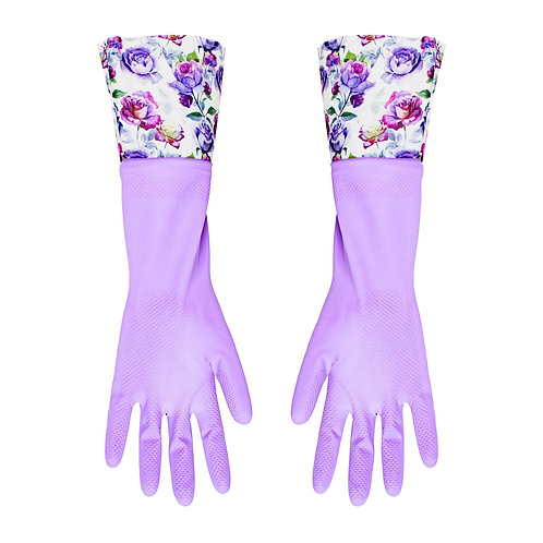 Kolorae Cleaning Gloves Purple Floral
