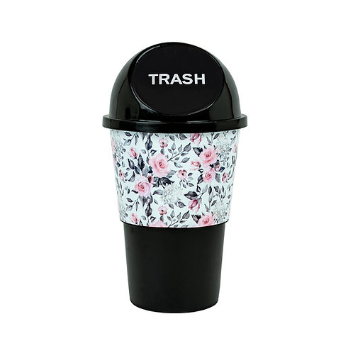 Kolorae Cup Holder Waste Can Peach Floral