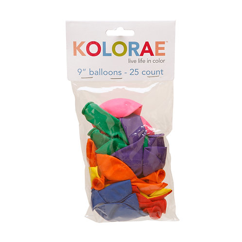 Kolorae 9IN Balloons - 25 Count