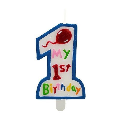 Kolorae Blue 1st Birthday Candle