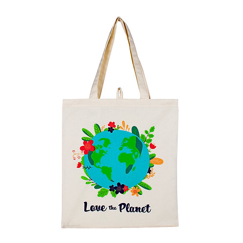 Kolorae Canvas Tote - Love the Planet