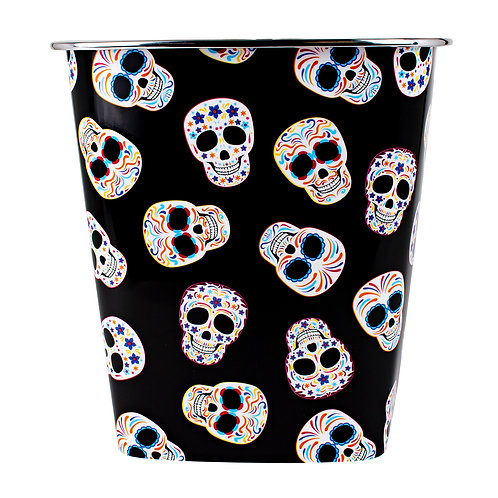 Kolorae Waste Can Colorful Sugar Skulls