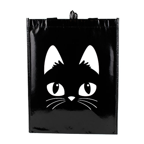 Kolorae Graphic Tote Black Cat Face