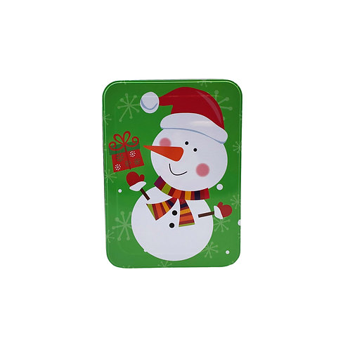"Kolorae Tin 8.5"" Rectangle Gifting Snowman"