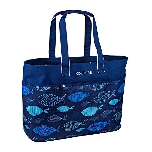 Kolorae Beach Tote - Blue Fish