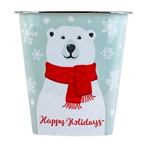 Kolorae Waste Can Holiday Polar Bear