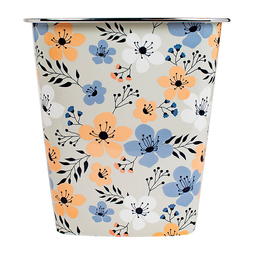 Kolorae Waste Can Coral Floral