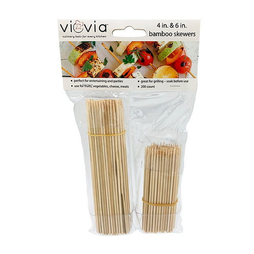 Viovia 4 Inch and 6 Inch Bamboo Skewers