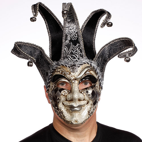 Masqarae Harlequin Jester Mask - BS