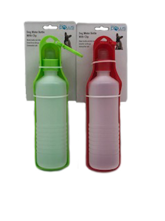 Blue Paws Dog Water Bottle With Clip