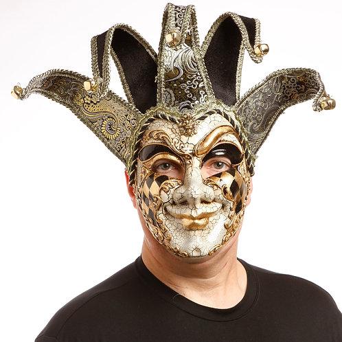 Masqarae Harlequin Jester Mask - BG