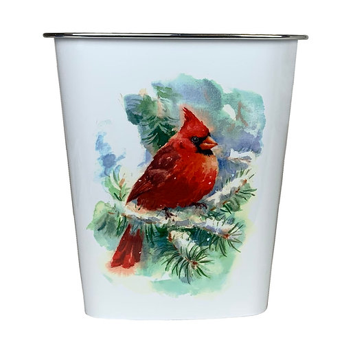 Kolorae Waste Can Winter Cardinal