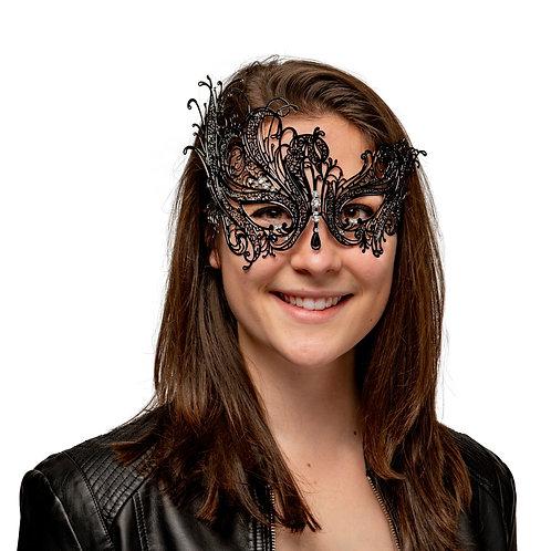Masqarae Metal Lace Mask - BK