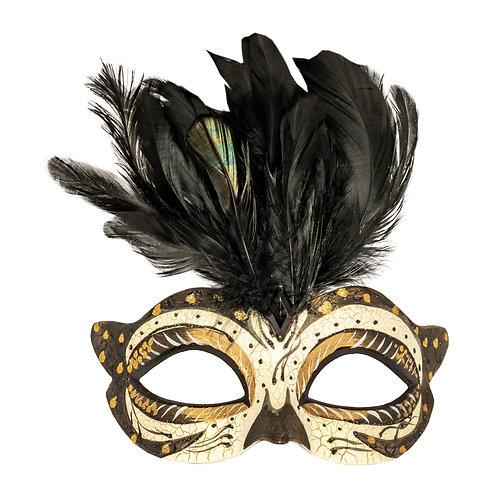 Masqarae Tufted Feather Mask - Gb