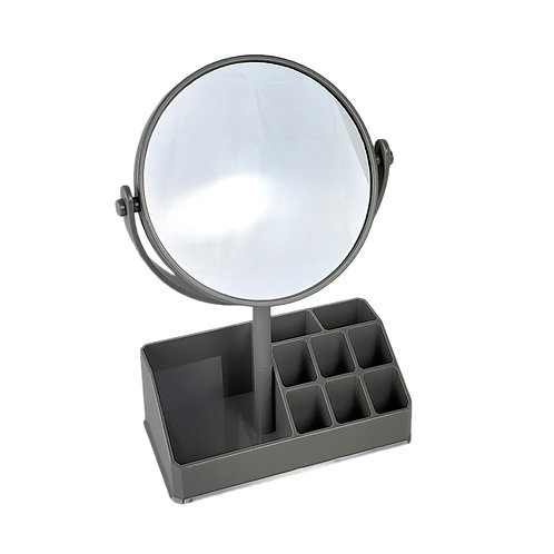 Elle & Kate Mirror with Compartments - Grey
