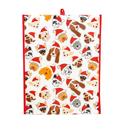Kolorae Graphic Tote Festive Dogs