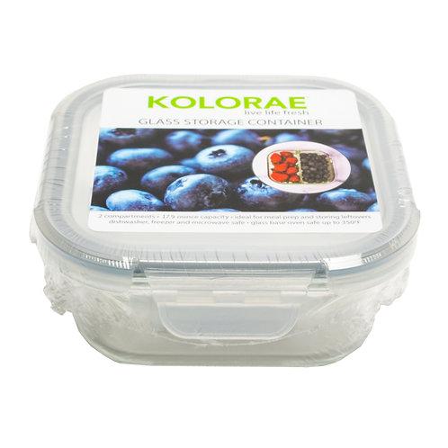 Kolorae Glass Food Storage Square 17.9oz - 2 Compartment