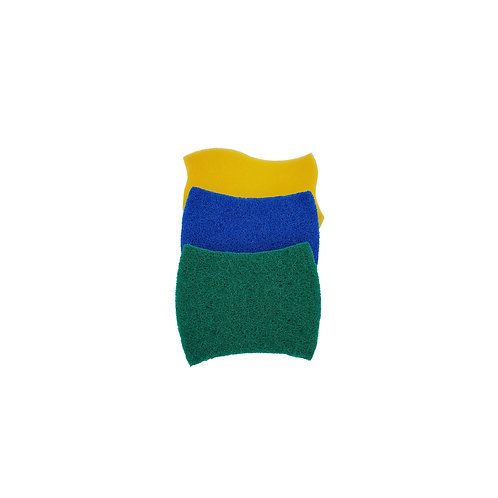 Broxan Scrubbers and Sponge - Set of 3