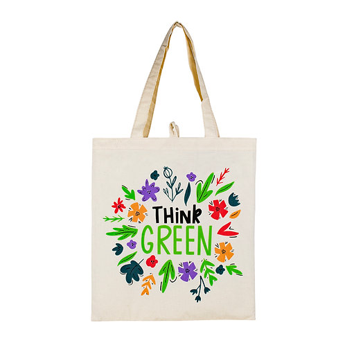 Kolorae Canvas Tote - Think Green