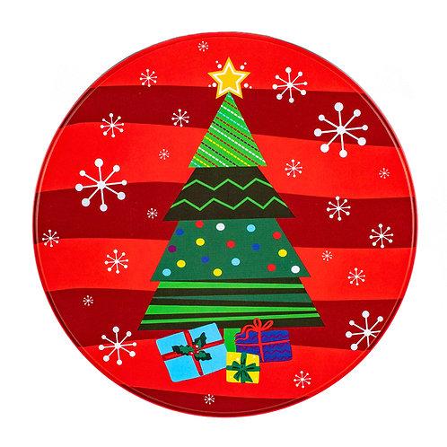 """Kolorae Tin 8"""" Round Christmas Tree"""