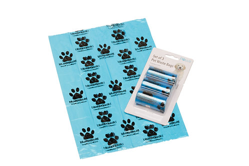 Blue Paws Pet Waste Bags - 3PK 20CT