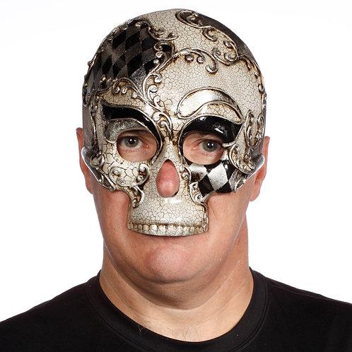 Masqarae Harlequin Skull Mask - BS