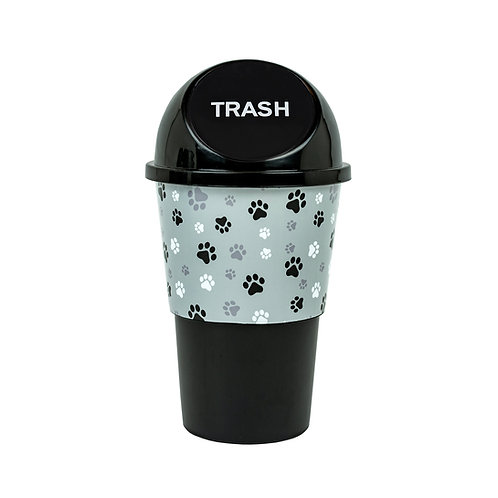 Kolorae Cup Holder Waste Can Greyscale Paws