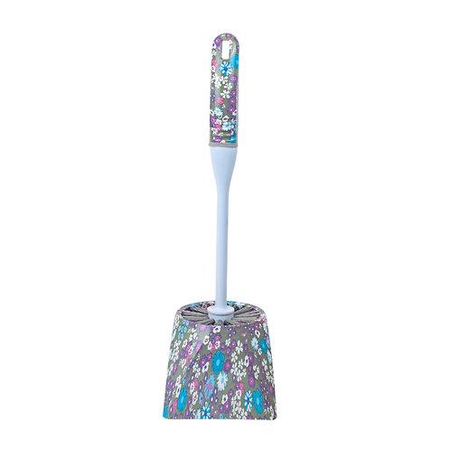Kolorae Toilet Brush and Caddy Set Purple Petals
