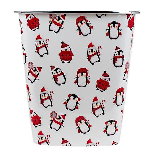 Kolorae Waste Can Christmas Penguins