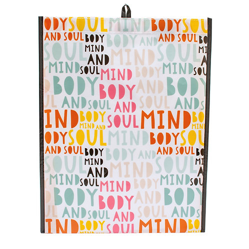 Kolorae Graphic Tote Mind Body and Soul