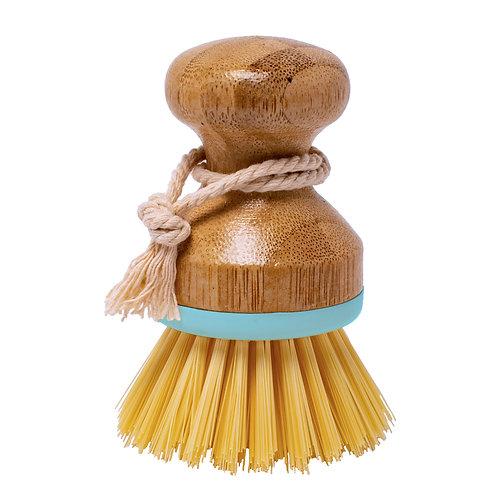 Kolorae Bamboo Palm Dish Brush Pastel Turquoise
