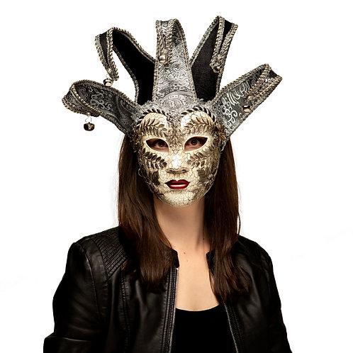 Masqarae Lady Ornate Jester Mask - BS