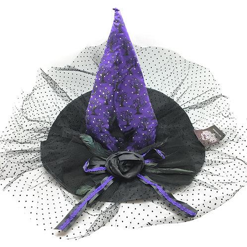 Masqarae Victoria Witch Hat - Purple
