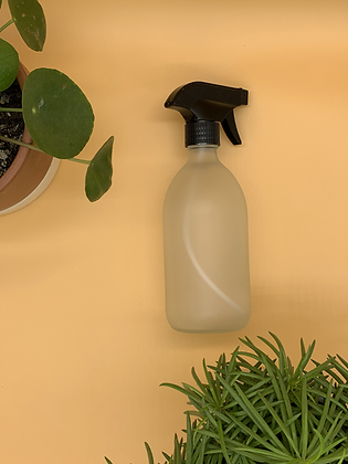 500ml Frosted Glass Bottle with Black Spray