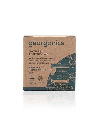 Georganics English Peppermint Toothpowder 60ml