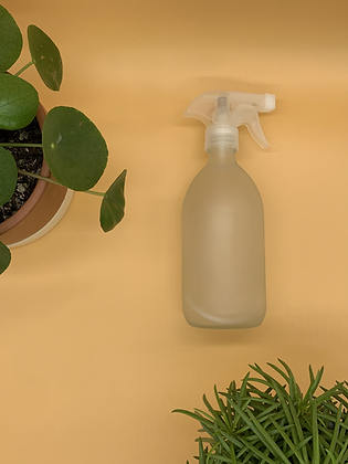 500ml Frosted Glass Bottle with Natural Spray Lid
