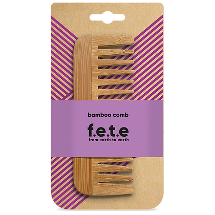 FETE Wide Toothed Bamboo Comb
