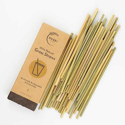 Biodegradable Grass Straws by Huski Home
