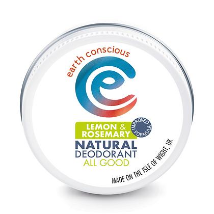 Earth Conscious Lemon & Rosemary Deodorant Balm