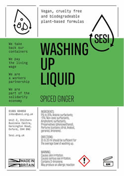 WASHING UP LIQUID - SPICED GINGER