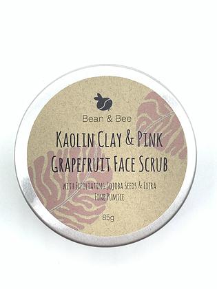 Bean & Bee Kaolin Clay & Pink Grapefruit Face Scrub