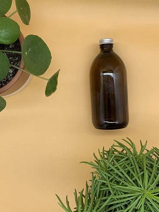 500ml Amber Glass Bottle with Aluminium Lid