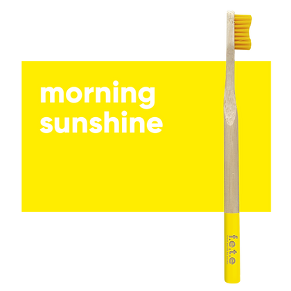 FETE Medium Toothbrush - Yellow