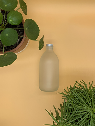 500ml Frosted Glass Bottle with Aluminium Lid