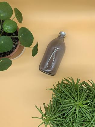 500ml Smoked Glass Bottle with Aluminium Lid